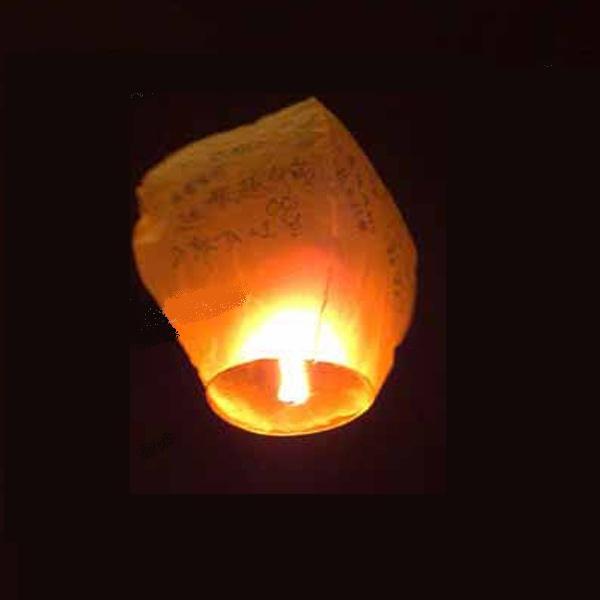 Китайские летающие фонарики со свечей (2 в комплекте)