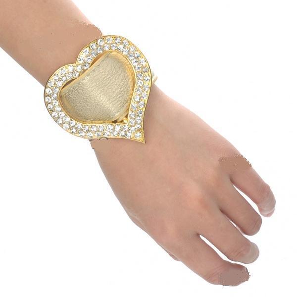 Женский золотой браслет с гранатом N_12
